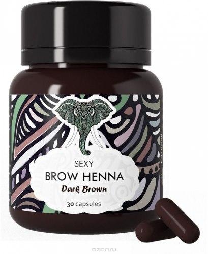 Хна для окрашивания бровей 30 капсул по 6 гр. - Brow Henna Sexy Henna Brow Темно-Коричневая