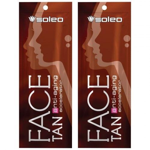 Крем-проявитель загара Soleo Face Tan для кожи лица, шеи, декольте в солярии Soleo