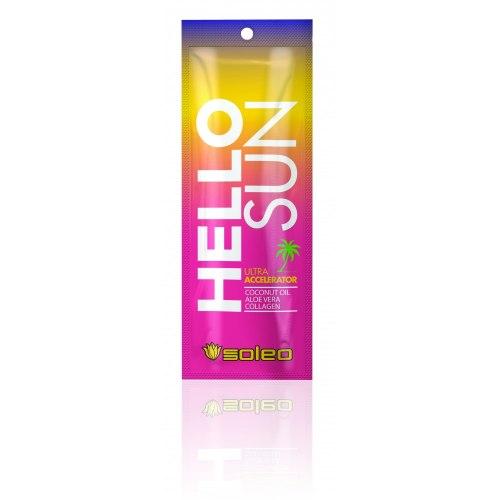 Крем ультра-ускоритель для загара с маслом какао Hello Sun Soleo, 15мл Soleo