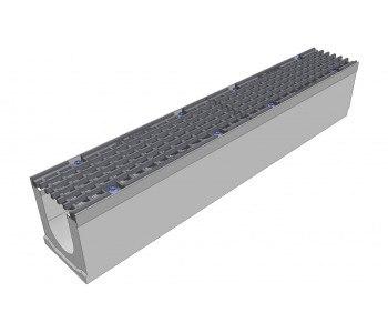 Лоток бетонный DN100 с чугунной решеткой Norma