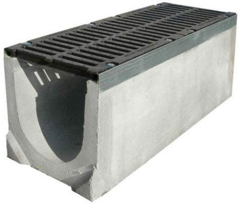 Лоток бетонный DN100 с пластиковой решеткой Norma