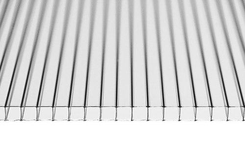 Поликарбонат сотовый 4 мм прозрачный Скарб