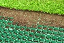Газонная решетка зеленая, 680\410\33мм