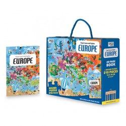 Travel, Learn and Explore: Europe Book + Puzzle / Книга з пазлом