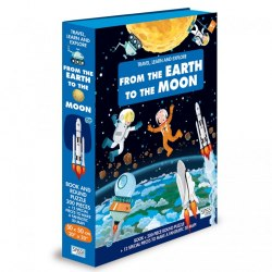 Travel, Learn and Explore: From the Earth to the Moon Book + Puzzle / Книга з пазлом