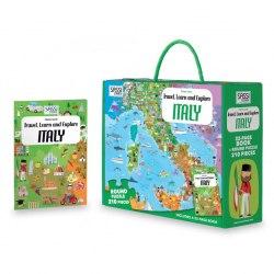 Travel, Learn and Explore: Italy Book + Puzzle / Книга з пазлом