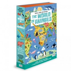 Travel, Learn and Explore: The World of Animals Book + Puzzle / Книга з пазлом