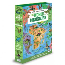Travel, Learn and Explore: The World of Dinosaurs Book + Puzzle / Книга з пазлом