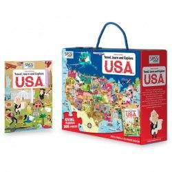 Travel, Learn and Explore: USA Book + Puzzle / Книга з пазлом