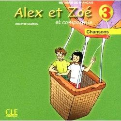 Alex et Zoé Nouvelle Édition 3 CD audio individuel (chansons et comptines) / Аудіо диск
