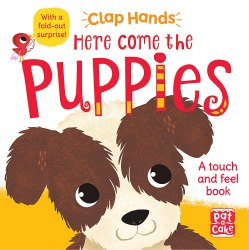 Clap Hands: Here Come the Puppies / Книга з тактильними відчуттями