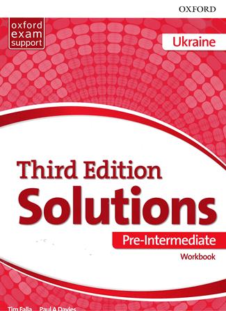 Solutions (3rd Edition) Pre-Intermediate Workbook Ukraine / Робочий зошит, видання для України