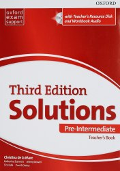 Solutions (3rd Edition) Pre-Intermediate Teacher's Book with Teacher's Resource Disc and Workbook Audio / Підручник для вчителя