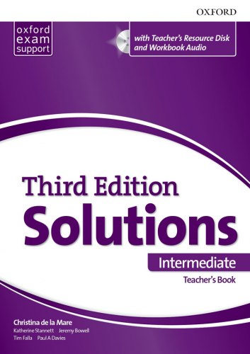 Solutions (3rd Edition) Intermediate Teacher's Book with Teacher's Resource Disc and Workbook Audio / Підручник для вчителя