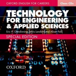Oxford English for Careers: Technology for Engineering and Applied Sciences Class CDs / Аудіо диск