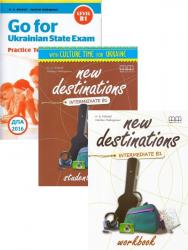 New Destinations Intermediate B1 Student's Book+Workbook+Go for Ukrainian State Exam B1 / Набір книг