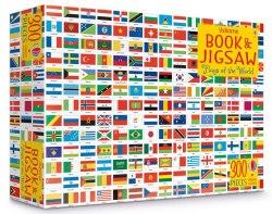 An Usborne Jigsaw with a Book: Flags of the World / Книга з пазлом