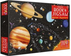 An Usborne Jigsaw with a Picture Book: The Solar System / Книга з пазлом