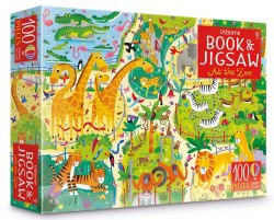 An Usborne Jigsaw with a Puzzle Book: At The Zoo / Книга з пазлом