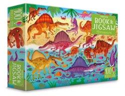 An Usborne Jigsaw with a Puzzle Book: Dinosaurs / Книга з пазлом