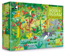 An Usborne Jigsaw with a Puzzle Book: In The Jungle / Книга з пазлом