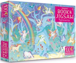 An Usborne Jigsaw with a Sticker Book: Unicorns / Книга з пазлом