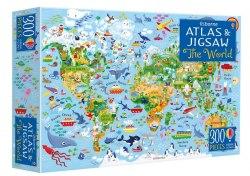 An Usborne Jigsaw with an Atlas: The World / Книга з пазлом