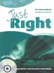 Just Right (2nd Edition) Pre-Intermediate Workbook with Key + CD / Робочий зошит з відповідями