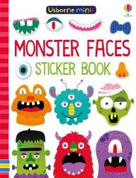 Usborne Minis: Monster Faces Sticker Book / Книга з наклейками