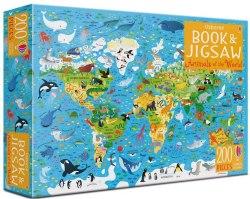 Usborne Book and Jigsaw Animals of the world / Книга з пазлом