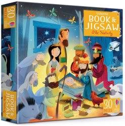 Usborne Book and Jigsaw The Nativity / Книга з пазлом