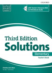 Solutions (3rd Edition) Elementary Teacher's Book with Teacher's Resource Disc and Workbook Audio / Підручник для вчителя