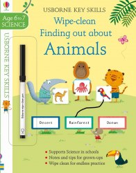 Usborne Key Skills: Wipe-Clean Finding out about Animals
