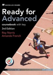 Ready for Advanced 3rd Edition Coursebook with key, Downloadable Audio and Macmillan Practice Online / Підручник для учня