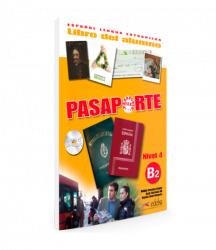 Pasaporte 4 (B2) Libro del alumno + CD audio / Підручник для учня