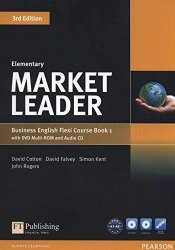 Market Leader (3rd Edition) Elementary Flexi Course Book 1 with DVD and Audio CD / Підручник для учня з зошитом