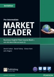 Market Leader (3rd Edition) Pre-Intermediate Flexi Course Book 1 with DVD and Audio CD / Підручник для учня з зошитом