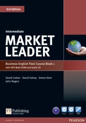 Market Leader (3rd Edition) Intermediate Flexi Course Book 1 with DVD and Audio CD / Підручник для учня з зошитом