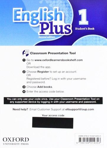 English Plus 1 (2nd Edition) Student's Book Classroom Presentation Tool eBook Pack / Ресурси для інтерактивної дошки
