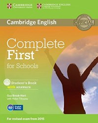 Complete First for Schools Student's Book with answers and CD-ROM / Підручник для учня