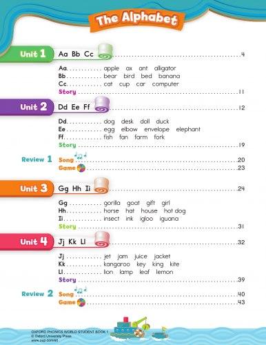 Oxford Phonics World 1: The Alphabet Student's Book with MultiROM / Підручник для учня