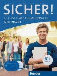 Sicher! B1+ Medienpaket (2 Audio-CDs und DVD zum Kursbuch) / Аудіо та відеоматеріали до підручника