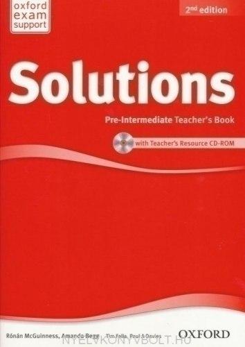 Solutions (2nd Edition) Pre-Intermediate Teachers Book / CD-ROM / Підручник для вчителя