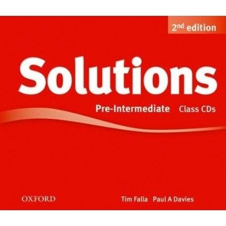 Solutions (2nd Edition) Pre-Intermediate Class CDs / Аудіо диск