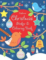 Sticker and Colouring Book: Christmas / Книга з наклейками