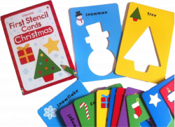 First Stencil Cards Christmas Usborne Publishing