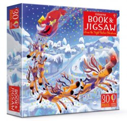 Книга з пазлом Twas the Night Before Christmas picture book and jigsaw Usborne Publishing