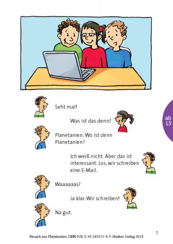 Planetino 1 Leseheft: Besuch aus Planetanien / Книга для читання