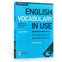 English Vocabulary in Use Fourth Edition Pre-Intermediate and Intermediate with eBook and answer key