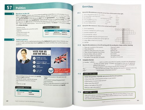 English Vocabulary in Use Fourth Edition Pre-Intermediate and Intermediate with eBook and answer key Cambridge University Press